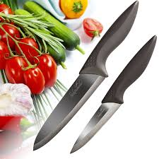 amazon com ceramic knife set 2pc sheaths chef and paring