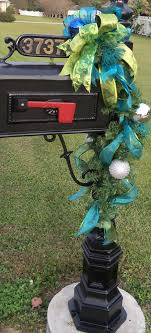 themed mailbox christmas peacock themed mailbox pine by lisashenhousedesigns