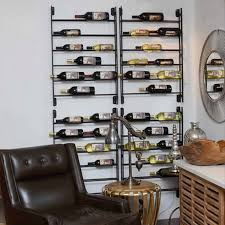 bottles ideas in metal wall mounted wine rack nytexas wood and