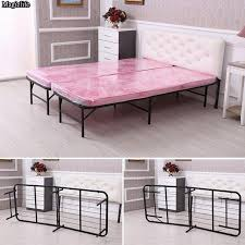 Bed Frame Simple Bed Simple Base Bi Fold Bed Frame King Size Iron Mattress Foundation