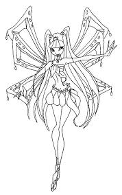 flora coloring pages winx club flora coloring page google search anime art