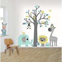 stickers muraux chambre bébé stickers muraux chambre enfant decodeco sticker mural arbre safari