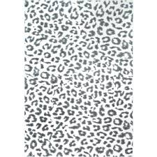 Leopard Print Shower Curtain by Nuloom Leopard Print Grey 8 Ft X 10 Ft Area Rug Rzbd61a 8010