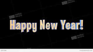 happy new year merry epic 3 d gold words alpha channel