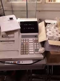 jcm gold g 223 cash register with till rolls keys x2 spare ink