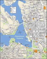 Canada City Map by Victoria Downtown Map