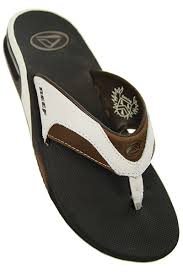 mens reef fanning flip flops sale reef mens fanning leather flip flops in brown and white with free uk