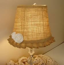 burlap lamp shade crafts i would love to do pinterest