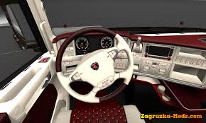 Interior Truck Scania Interior Scania T Red U0026 White For Ets 2 Download Game Mods Ets