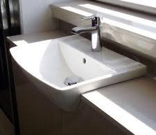 semi recessed bathroom sinks semi recessed basin ebay