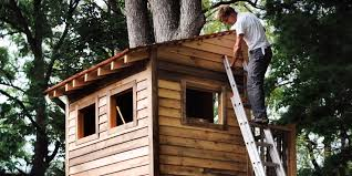Free Instructions On How To Build A Platform Bed by How To Build A Treehouse For Your Backyard Diy Tree House Plans
