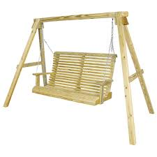 amish pine a frame swing stand