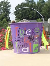 personalized halloween bucket it u0027s fall ya u0027ll pinterest