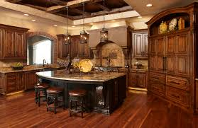limestone countertops knotty alder kitchen cabinets lighting