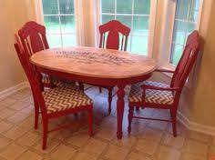 DIY Red Kitchen Table I Love This For The Kitchen Add Black And - Red kitchen table and chairs