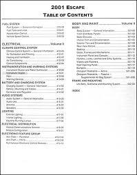 2005 ford mustang repair manual 2001 ford escape repair shop manual original 2 volume set