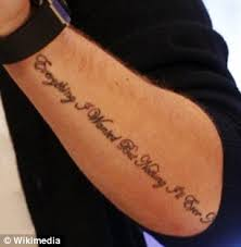 liam payne unveils i figured it out on his forearm