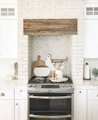 White Brick Backsplash Kitchen - white brick backsplash cabinet backsplash