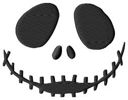 nightmare before christmas jack face 2 embroidery designs 3 si