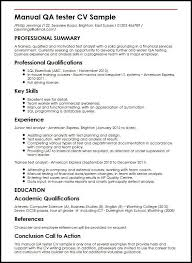 Software Testing Sample Resume by Manual Testing Resume Qa Sample Resume Resume Cv Cover Letter