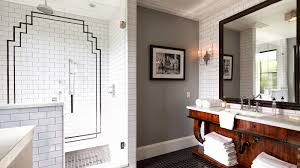 Fabulous Wallpaper In Bathroom With Sumptuous Home Grey Bathroom Modern Deco Featuring Charming