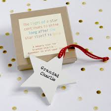 personalised wooden memory star by modo creative