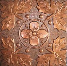 Bathroom Floor Pennies Metal Kitchen Tile Handmade Copper Rezzeqi Artisan Copper
