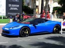 cars ferrari blue arab matte blue ferrari 458 italia loud sounds youtube