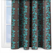 Brown Turquoise Curtains Kestrel Gardenia Trellis Turquoise Curtain Custom Curtains
