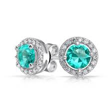 earring stud set 925 sterling silver color cz crown set stud earrings