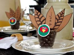home made thanksgiving decorations thanksgiving place card and party favor hgtv