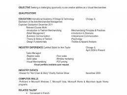 Resume For Retail Merchandiser Resume For Merchandiser Eliolera Com