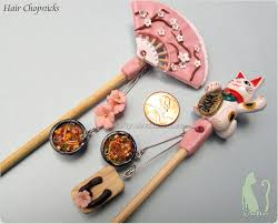 chopsticks for hair polymer clay and bamboo hair chopsticks by talty on deviantart