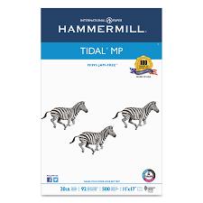hammermill tidal mp copy paper 92 brightness 20lb 11 x 17