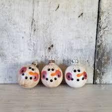 primitive snowman ornament snowman ornament by flathillgoods