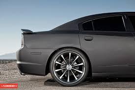 rims for dodge charger 2012 dodge charger gets matte black wrap and vossen wheels autoevolution