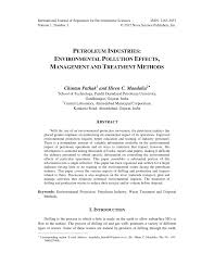 petroleum industries environmental pollution effects management