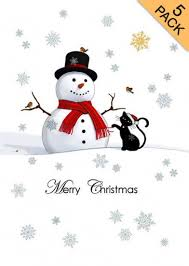 black cat u0026 snowman christmas card beautiful cats at tattypuss