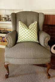 bathroom tufted wingback chairs and houndstooth chair