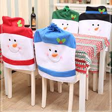snowman chair covers 1pc christmas chair covers lovely snowman chair back covers
