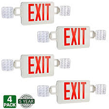 exit emergency light combo hykolity double face red exit sign led combo emergency light with