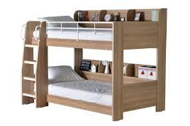 Happy Beds Domino Oak Wooden And Metal Kids Storage Bunk Bed - Oak bunk beds for kids