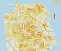 san francisco map detailed the steeps of san francisco in search of the city s steepest
