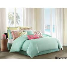 Seafoam Green And Coral Bedroom Echo Design Guinevere Coral Seafoam Cotton Sateen Reversible Duvet