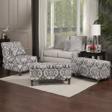 Large Accent Chair Homepop Blue And Cream Slate Large Accent Chair With Pillow K6771