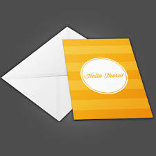 greeting cards folded with white envelopes
