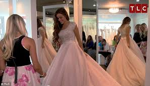 Blush Wedding Dress Jessa Duggar Chooses A Pink Gown On New 19 Kids U0026 Counting Daily
