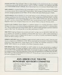 Career At Burger King Ann Arbor Civic Theatre Program The Diviners March 14 1984