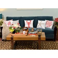 Seashore Decorative Pillows Coral Accent Pillow Stencil Kit U2013 Cutting Edge Stencils