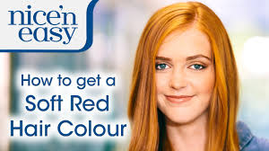 how to get a natural looking soft red hair colour at home with